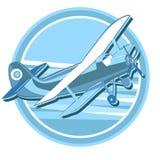 Vintage plane logo royalty free illustration