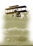Vintage plane in sky Stock Image