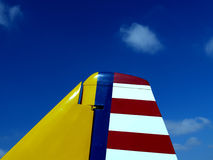 Vintage Plane Tail At Airshow Royalty Free Stock Photography