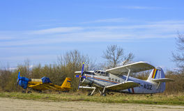 Vintage planes Stock Images
