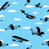 Vintage planes wallpaper Royalty Free Stock Images