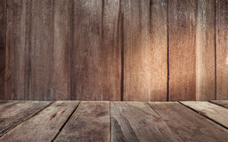 Vintage plank wood wall and floor siding background Stock Image
