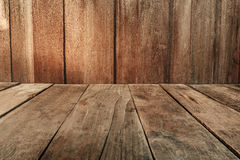 Vintage plank wood wall and floor siding background Royalty Free Stock Image