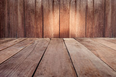 Vintage plank wood wall and floor siding background Royalty Free Stock Photography