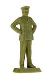 Vintage plastic Army Commander. Vintage plastic General or Commander, toy soldier isolated on white royalty free stock image