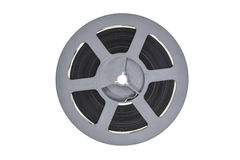 Vintage Plastic Super 8 Film Reel. Isolated with clipping path Stock Images