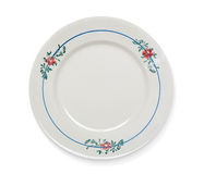 Vintage plate on white Royalty Free Stock Photo