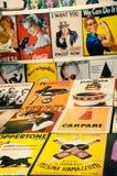 Vintage playbills. Exposition of various intalian and international vintage playbills Royalty Free Stock Photos