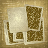 Vintage playing cards. Abstract  textile background Stock Photography