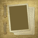 Vintage playing cards. Abstract  textile background Royalty Free Stock Photos
