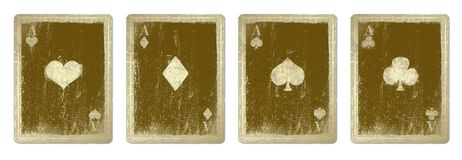 Vintage playing cards. Isolated from the background Royalty Free Stock Photography