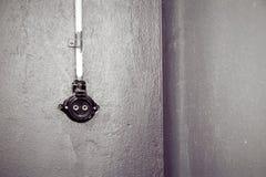 Vintage plug socket Royalty Free Stock Photo