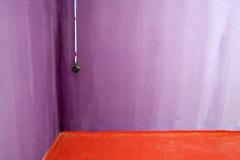 Vintage plug socket on concrete wall Stock Photos