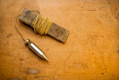 Vintage plumb bob Royalty Free Stock Images
