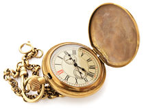 Vintage pocket clock Royalty Free Stock Images