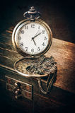Vintage pocket watch on a chain Stock Image