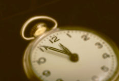 Vintage pocket watch. Soft focus image of vintage pocket watch Stock Photography
