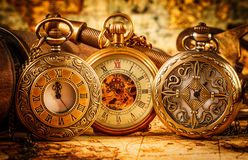 Vintage pocket watch. Vintage Antique pocket watch royalty free stock photos