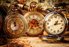 Vintage pocket watch. Vintage Antique pocket watch stock images