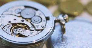 Vintage pocket watch stock footage
