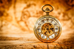 Vintage pocket watch. Vintage Antique pocket watch gold stock photos