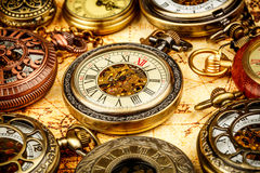 Vintage pocket watch. Vintage Antique pocket watch. Vintage grunge still life royalty free stock photos