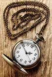 Vintage pocket watch on chain royalty free stock images