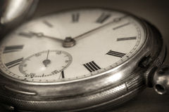 Vintage Pocket Watch. In closeup royalty free stock images