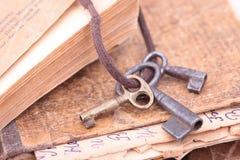 Vintage keys closeup Royalty Free Stock Photos