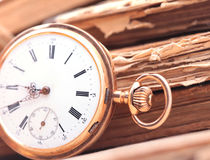 Vintage pocket watch closeup Royalty Free Stock Images