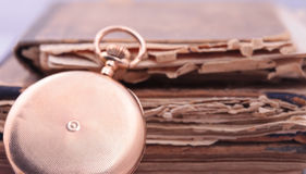 Vintage pocket watch closeup Stock Image