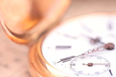 Vintage pocket watch closeup Royalty Free Stock Photography