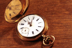 Vintage pocket watch closeup Royalty Free Stock Photo