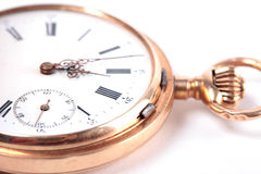 Vintage pocket watch closeup Stock Photo