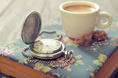 Vintage pocket watch Royalty Free Stock Image