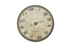 Vintage pocket watch - dial only  isolated Stock Images