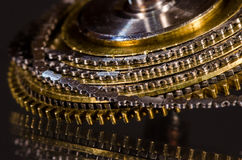 Vintage Pocket Watch Fusee Chain Coiled Around the Fusee Cone Stock Photos
