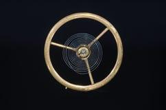 Vintage Pocket Watch Hairspring Suspended in Midair. Watch Repair: Vintage Pocket Watch Hairspring Suspended in Midair Royalty Free Stock Photography