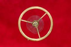 Vintage Pocket Watch Hairspring Suspended in Midair. Watch Repair: Vintage Pocket Watch Hairspring Suspended in Midair Royalty Free Stock Image