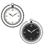 Vintage pocket watch icon template royalty free illustration