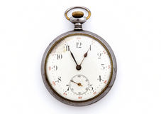 Vintage pocket watch isolated Royalty Free Stock Photography