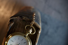 Vintage pocket watch old book Royalty Free Stock Photos