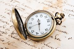 Vintage pocket watch Stock Photography