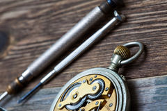 Free Vintage Pocket Watch Reverse Side Royalty Free Stock Images - 97217709