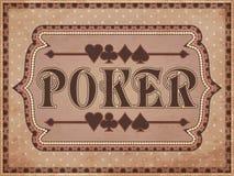 Vintage Poker background Stock Images