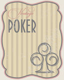 Vintage poker card clubs Royalty Free Stock Images