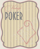Vintage poker card diamonds royalty free illustration