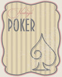 Vintage poker card spades Stock Photography