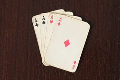 Vintage poker cards Royalty Free Stock Photography