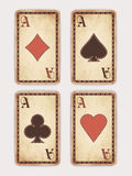 Vintage poker cards Royalty Free Stock Image